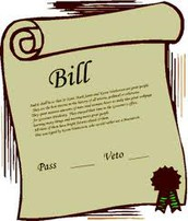 2.  The idea is introduced to Congress and turned into a bill.