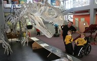 We saw dinosaur bones!