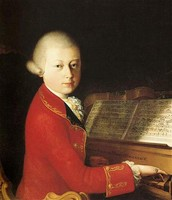 Mozart Playing The Piano at Age 14