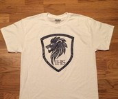 IHS LOGO, WHITE T-SHIRT  -- $5 THIS WEEK ONLY!