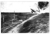 Torpedoes Bombing Enemy Ships