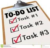 To Do List - April