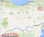 Mapa de Venezuela.