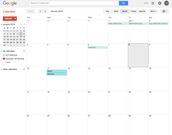 Google Calendar Month View