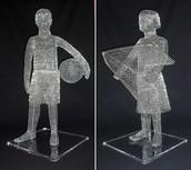 Paper Clip Sculpture