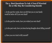 Questions you may ask