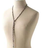 Zoe Lariat $98 (Silver shown, or Gold)