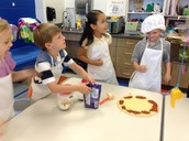 Making our pizza