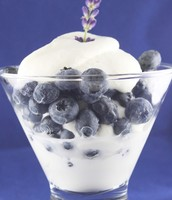 Blue-Berry Vanilla Ice Cream