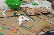 Art Area-Working on Making our own Alphabet