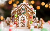 Lucky winner takes home a gingerbread house!