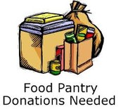 Donations needed for our Food Pantry