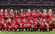 THE CANADIAN WOMEN'S SOCCER TEAM