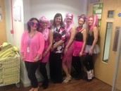 Hair and Beauty wear Pink to Raise Money
