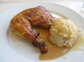 grilled chicken with mashed patatoes