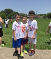 3rd and 4th grade Color Run Peprally Fun!