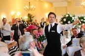 Everyday we have singing and dancing waiters there to help you!