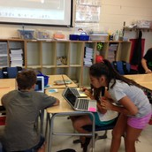 Working together on Quizlet Live