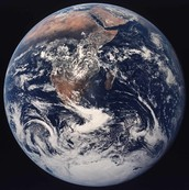 This is a satelite image of the planet earth.