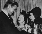 With Vivian Leigh and Clark Gable