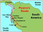 """Pizarro""""s route"""