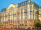 The Polonia Palace Hotel from the outside
