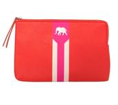 Capri Pouch Hot Pink/Poppy $20