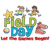 K-2 Field Day: Monday, June 6