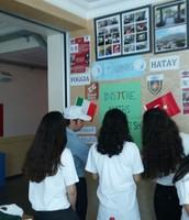 Mr. Mustafa AKINCI helps to the students!