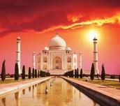 Sunset of the Taj Mahal
