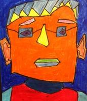Fifth Grade Cubism Self-Portraits