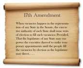 What is the 17th amendment and when was it passed