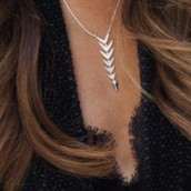 Silver Arrow Drop Necklace
