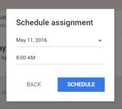 Google Classroom - Schedule Posts