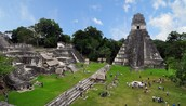 The ruins of the ancient city of Tika in the the Mayan Empire