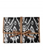 Bring it Jewelry Roll- black Ikat