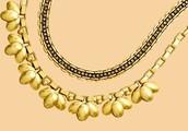 Hazel Statement Necklace with Jolie Sparkle chain