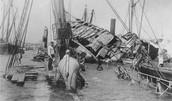 USS Maine in Havana Harbor post explosion