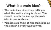 Opinion - main idea