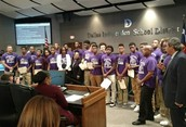 Dallas ISD School Board Honors the 4A Champions