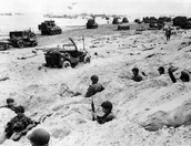 D-day foxholes on the beach