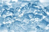 Ice is a solid and it helps reduce heat energy in the mixture