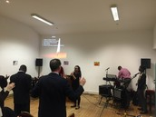Leading worship and prayer at prayer rally in Dundalk, Ireland.