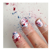 Splatter It On Your Nails.
