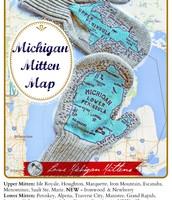 Official Michigan Mitten Map