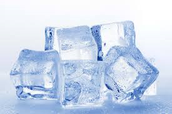 Ice is a good and very common source of water