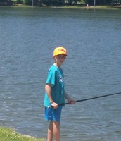Jacob patiently awaits the perfect fish!