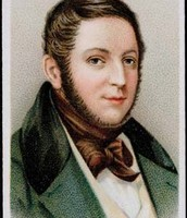 Gioachino Rossini featured on a cigarette trading card.