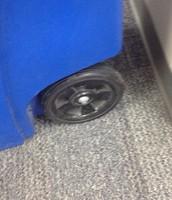 Recycle bin wheel