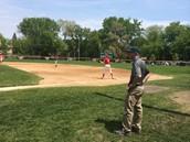 My Father Coaching Baseball